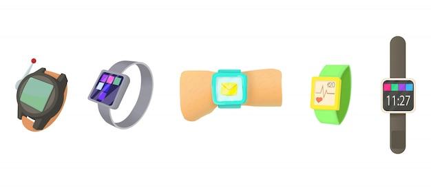 Conjunto de iconos de smartwatch Vector Premium