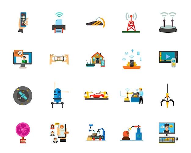 Conjunto de iconos de tecnología vector gratuito