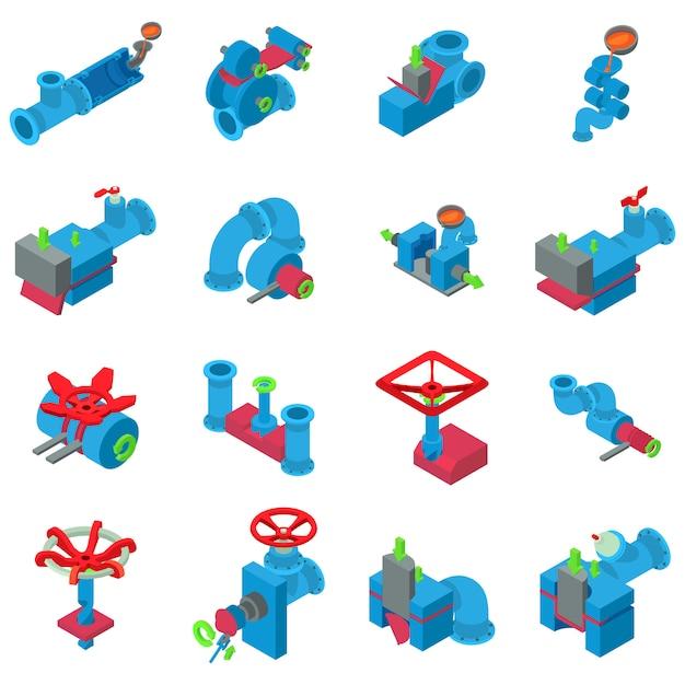Conjunto de iconos de tubo Vector Premium