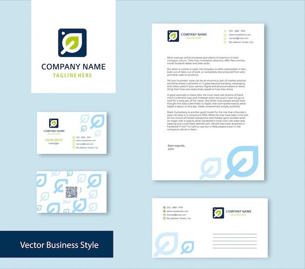 Conjunto de identidad de marca Vector Premium