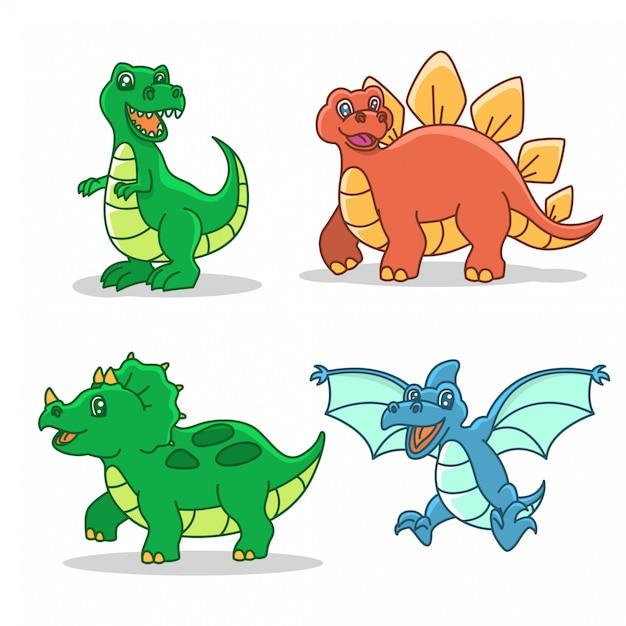 Conjunto De Ilustracion De Estilo De Dibujos Animados De Dinosaurios Vector Premium Imágenes gif de dinosaurios de la categoría de. https www freepik es profile preagreement getstarted 2022306
