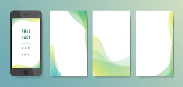 Conjunto de ilustración de fondo abstracto vector gratuito