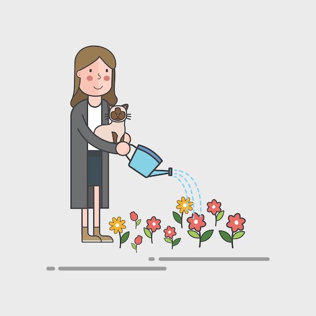 Conjunto de ilustración de vector ambiental vector gratuito
