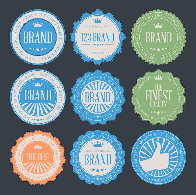 Conjunto de insignias de logotipo vintage retro Vector Premium