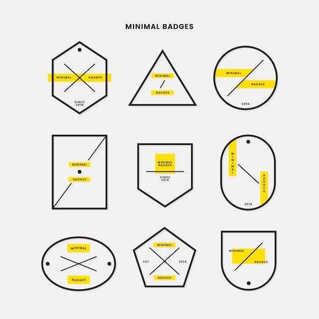 Conjunto de insignias mínimas vector gratuito