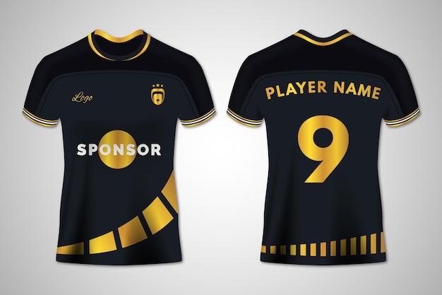 Conjunto de jersey de fútbol delantero y trasero Vector Premium