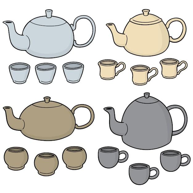 Conjunto de juegos de té Vector Premium