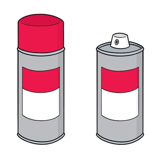 Conjunto de lata de aerosol Vector Premium