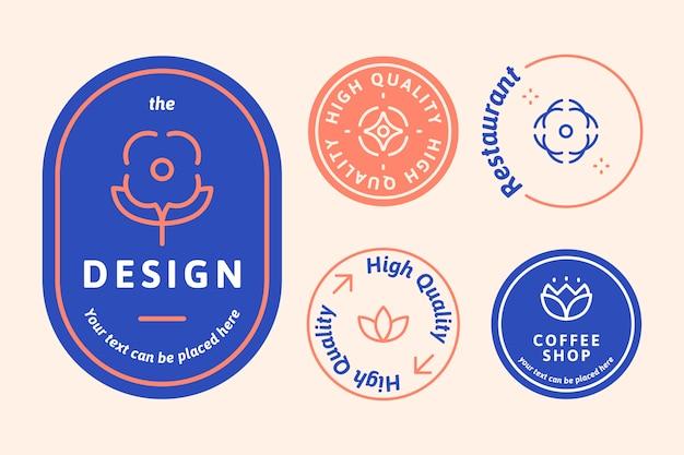 Conjunto de logo natural vector gratuito