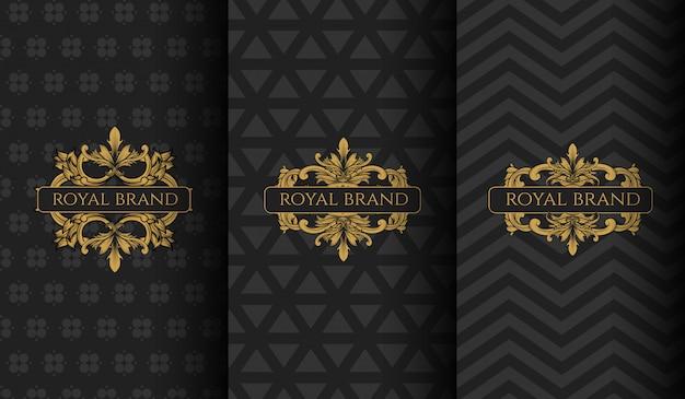 Conjunto de logotipo de lujo. Vector Premium