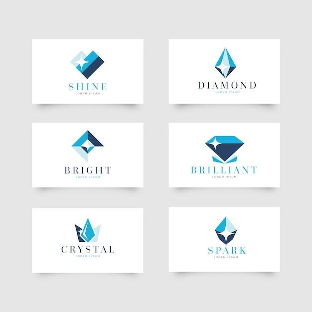 Conjunto de logotipos de diamantes para empresa vector gratuito