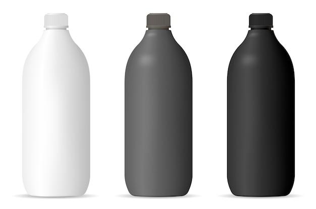 Conjunto de maquetas de botellas para productos cosméticos para el hogar Vector Premium