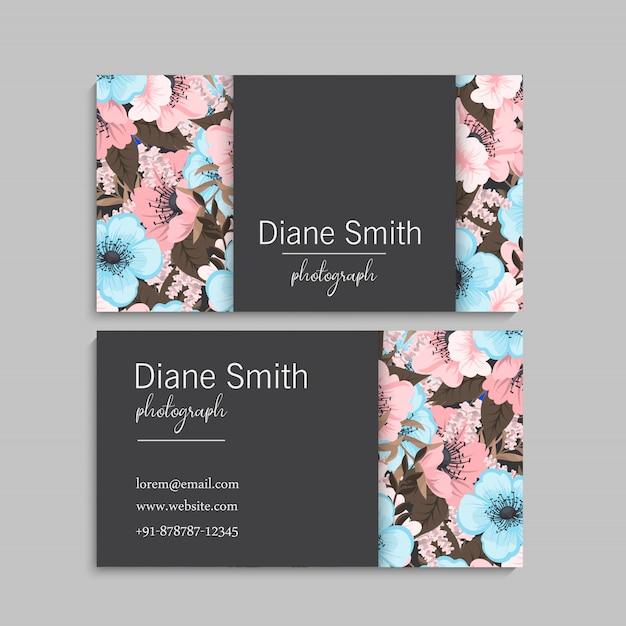 Conjunto de marco floral con flores de colores. vector gratuito