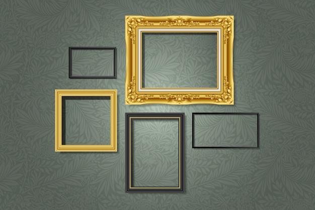 Conjunto de marcos de galería vector gratuito