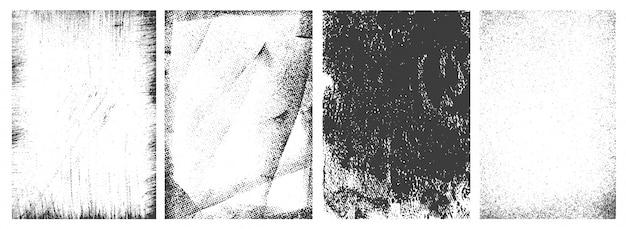 Conjunto de marcos verticales grunge retro vector gratuito