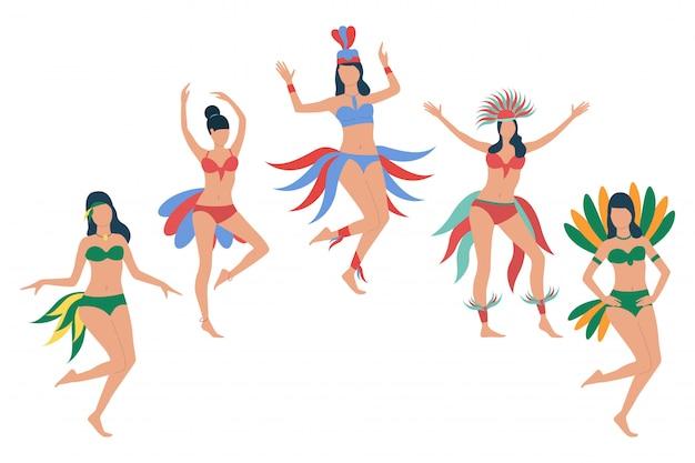 f4935c0d9bc8 Conjunto de mujeres en trajes de bikini de plumas. | Descargar ...