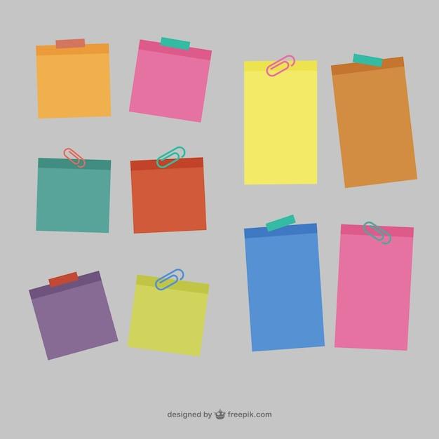 Conjunto de notas adhesivas Vector Premium