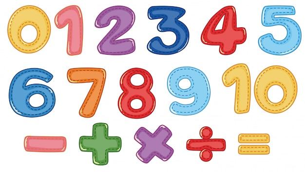 Un Conjunto De Numeros Y Simbolos Matematicos Descargar Vectores