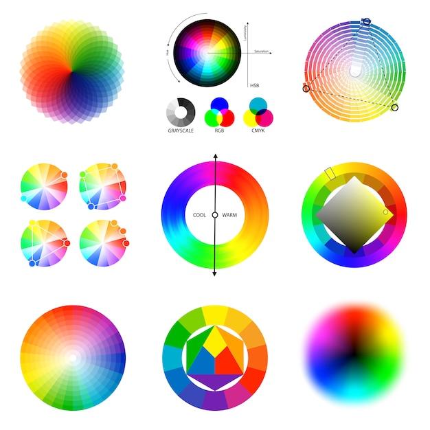 Conjunto de paleta de colores vector gratuito