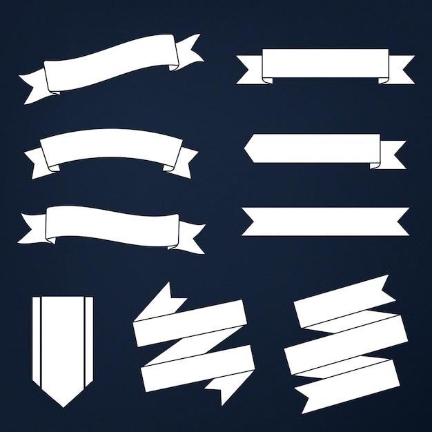 Conjunto de pancartas mixtas vector gratuito