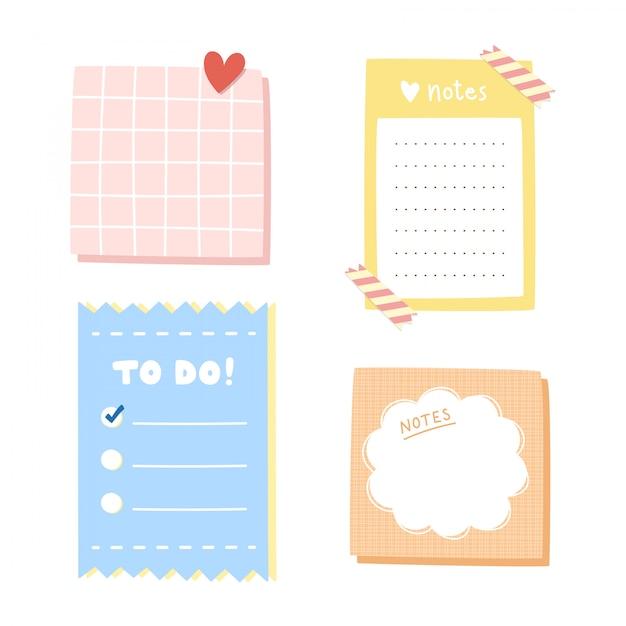 Conjunto de papel de carta. Vector Premium