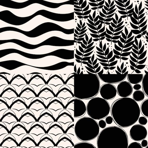 Conjunto de patrón abstracto. Vector Premium