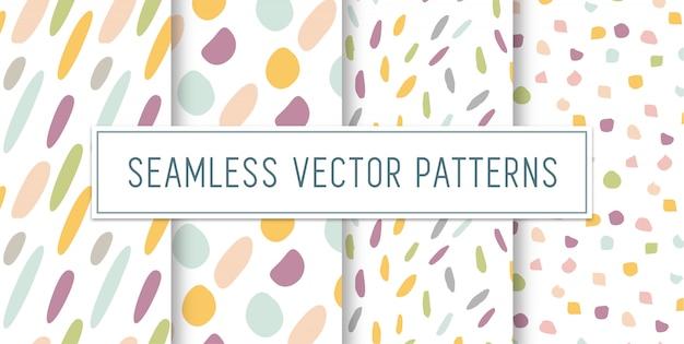 Conjunto de patrones coloridos sin fisuras Vector Premium