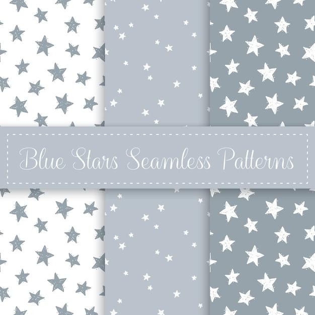 Conjunto de patrones sin fisuras de estrellas lindas Vector Premium