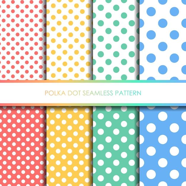 Conjunto de patrones sin fisuras lunares pastel Vector Premium