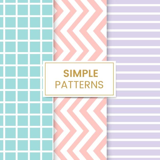 Conjunto de patrones sin fisuras mezclado pastel vector gratuito