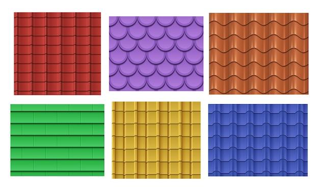 Conjunto de patrones de pizarra de techo Vector Premium