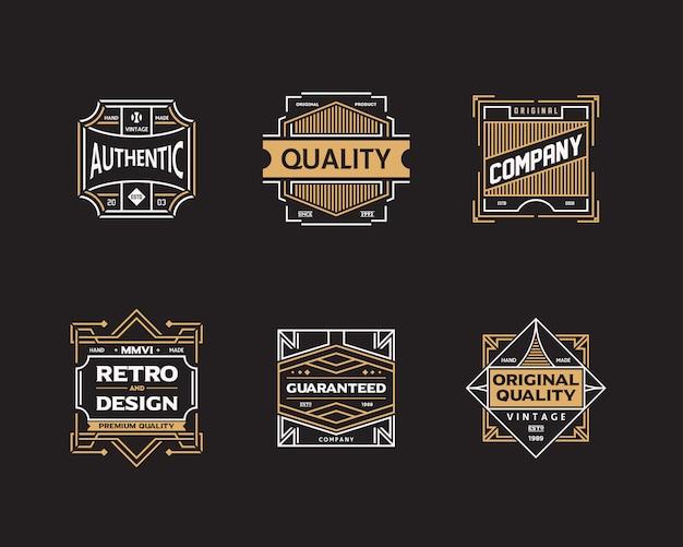 Conjunto de placa vintage Vector Premium