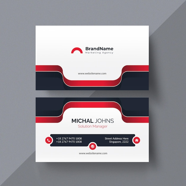 Conjunto de plantilla de diseño de tarjeta de visita Vector Premium