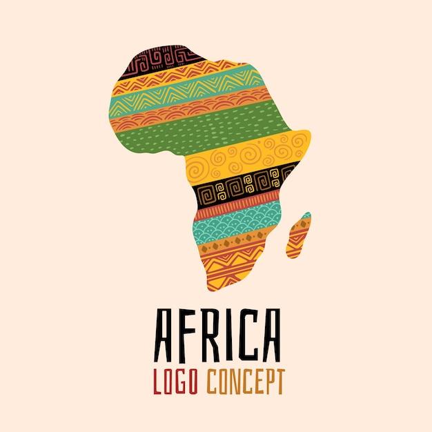 Conjunto de plantilla de logotipo de áfrica creativa vector gratuito