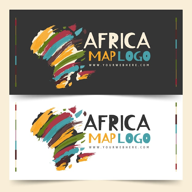 Conjunto de plantilla de logotipo de áfrica vector gratuito
