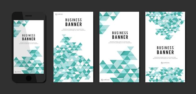 Conjunto de plantillas de banner abstracto de negocios vector gratuito