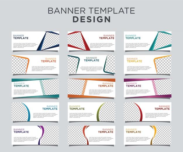 Conjunto de plantillas de banner profesional fondo blanco Vector Premium
