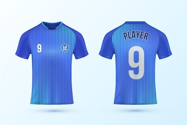 Conjunto de plantillas de camiseta de fútbol vector gratuito