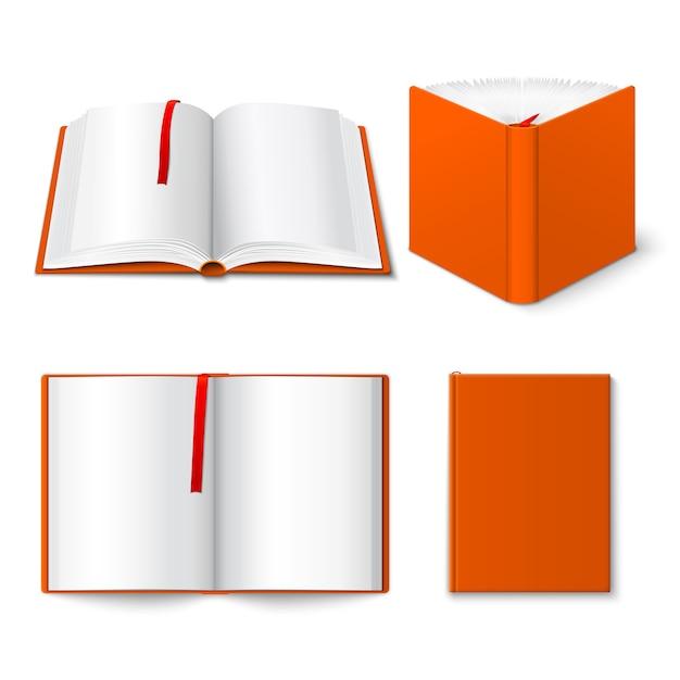 Conjunto de plantillas de libro abierto vector gratuito
