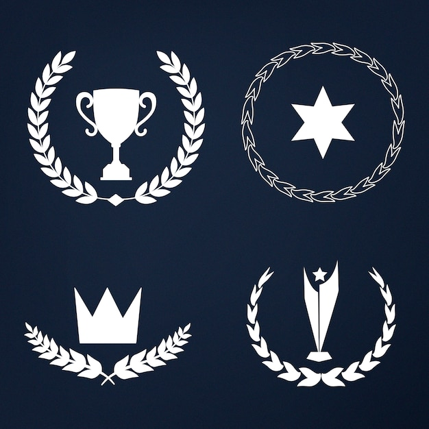 Conjunto de premios y distintivos vectoriales. vector gratuito