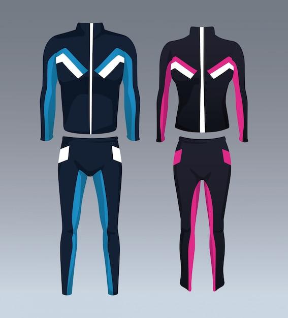 Conjunto de ropa deportiva para hombre y mujer  917d1bcace223