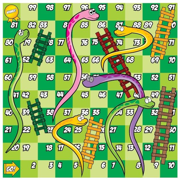 Conjunto de serpiente y escalera | Descargar Vectores Premium