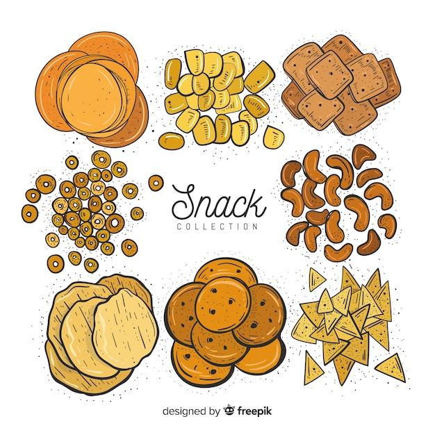 Conjunto  de snacks vector gratuito