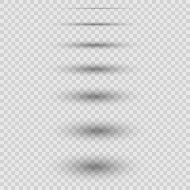 Conjunto de sombras realistas Vector Premium