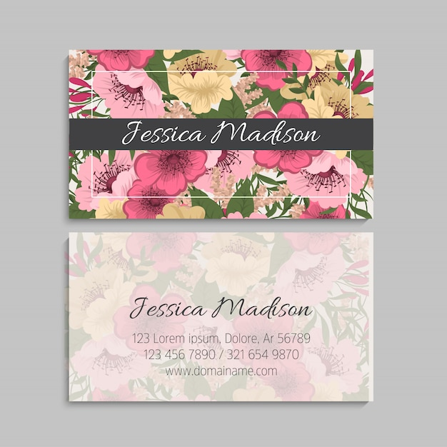 Conjunto de tarjetas de visita. ilustración vectorial vector gratuito