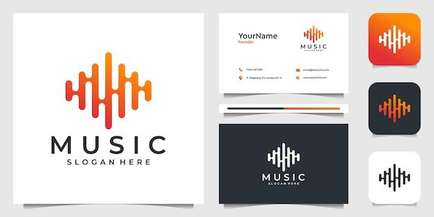 Conjunto de tarjetas de visita Vector Premium