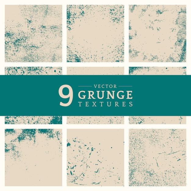 Conjunto de textura angustiada grunge beige vector gratuito