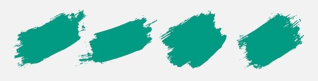 Conjunto de textura grunge abstracto pintado a mano turquesa vector gratuito