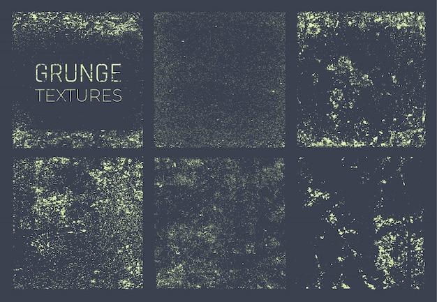 Conjunto de texturas grunge Vector Premium