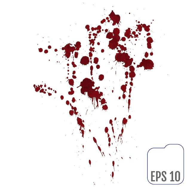 Conjunto de varias salpicaduras de sangre o pintura Vector Premium